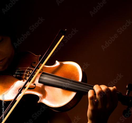 Canvas Print violoniste