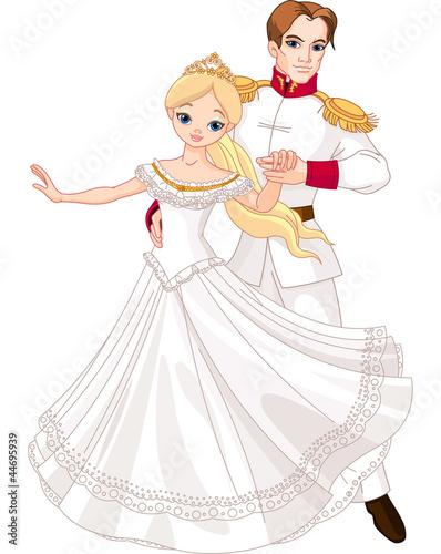 Dancing prince and princess