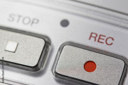 Fotografija Macro of digital dictaphone