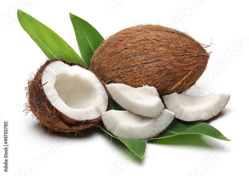 Obraz na płótnie Coconuts and leaves