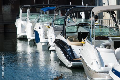 Billede på lærred Row pleasure boats