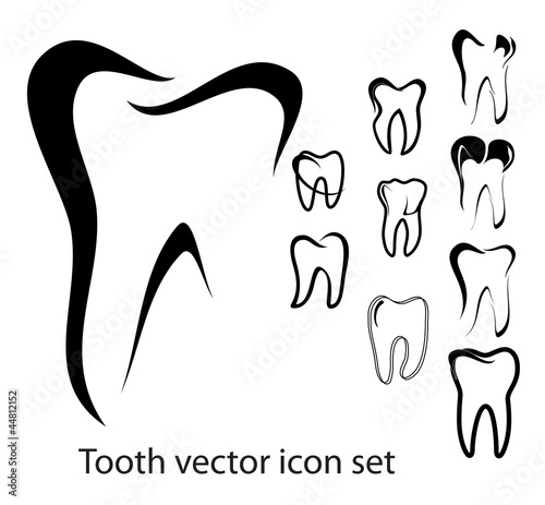 Tooth vector icon set #44812152