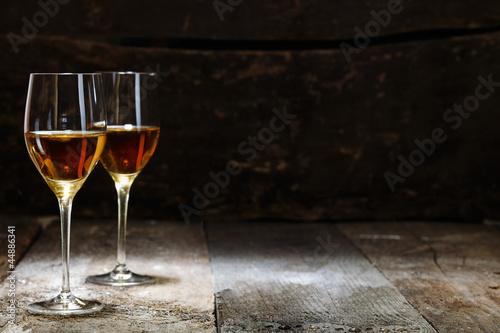 Fototapeta Two glasses of sherry