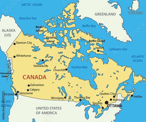 Obraz na plátně Canada - vector map