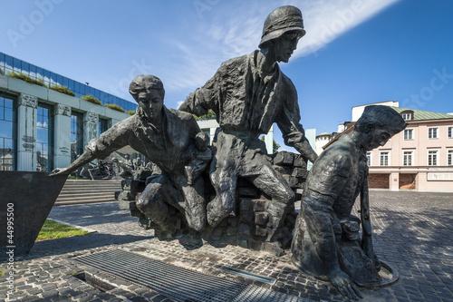 Warsaw Uprising Monument in Warsaw - closeup