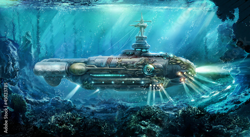 Fotografia Fantastic submarine