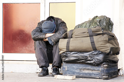 homeless couleur Fototapet