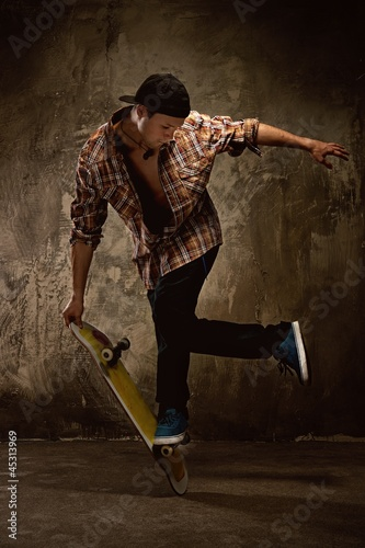 Canvas Print Skater doing a trick