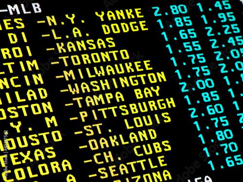Foto Baseball betting