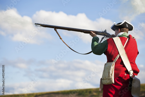 Photo 18th century British army infantry Redcoat uniform