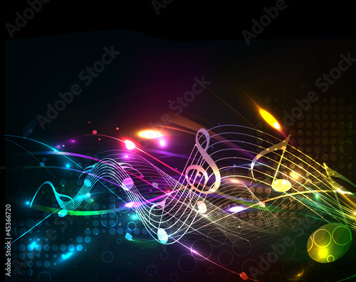 Music colorful music note theme #45366720