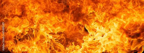 Canvas-taulu blaze fire flame texture background