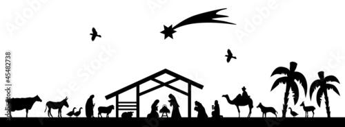 Bethlehem silhouette #45482738