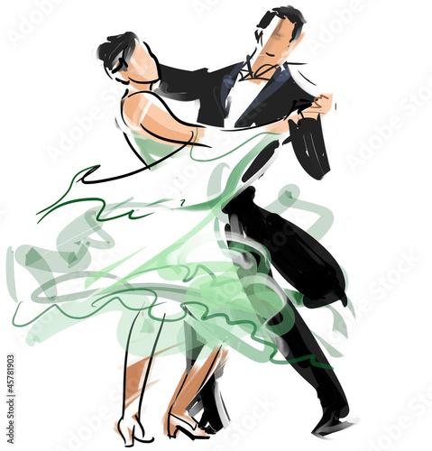 Canvas Print Social dance02