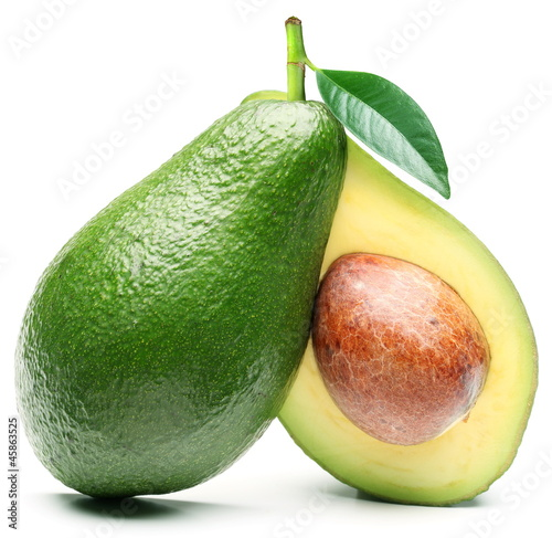 Foto Avocado isolated on a white background.