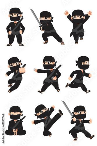 Canvas Print Kid ninja