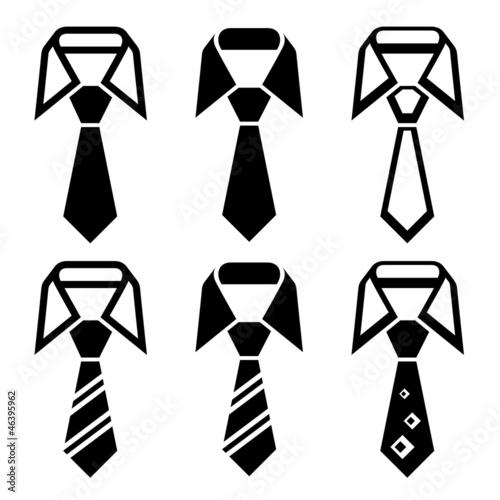 Billede på lærred vector tie black symbols