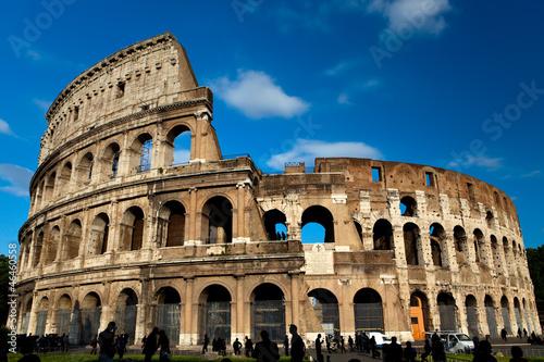 Vászonkép Italy. Rome. The ancient Collosseo