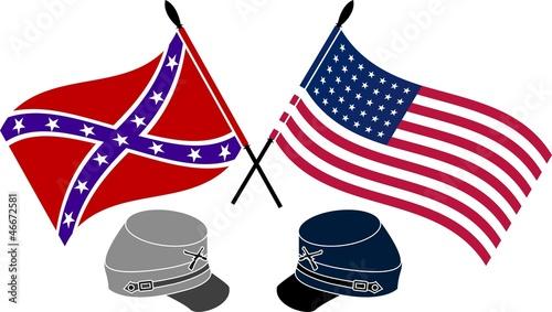 Leinwand Poster American Civil War. stencil. first variant