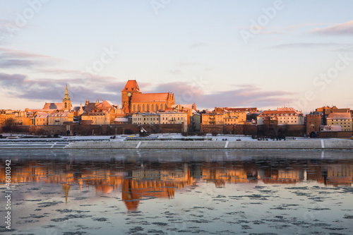 Winter panorama of Torun