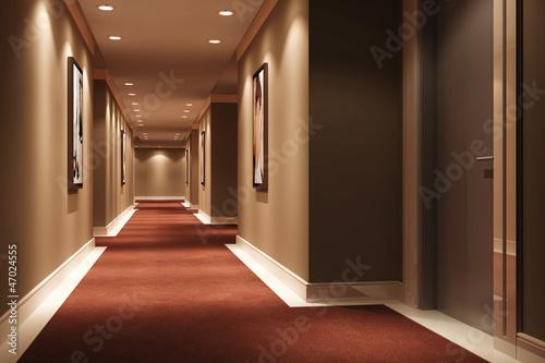 Canvas Print Hotel Walkway