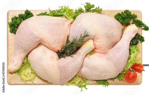 Canvas Print Cosce di pollo - thigh of chicken