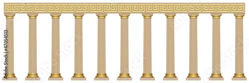 Canvas Colonnade en style grec