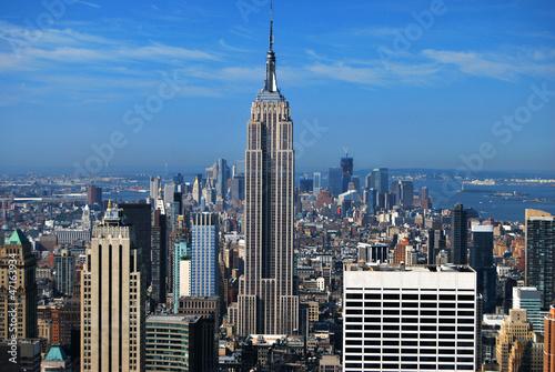 Empire State Building et Manhattan New York USA Fototapet