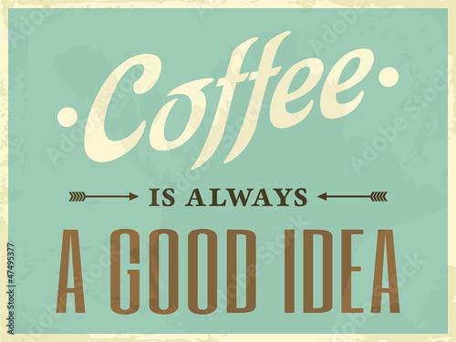Canvas Print Retro Style Coffee Poster