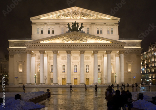 Moscow, Bolshoi theatre night