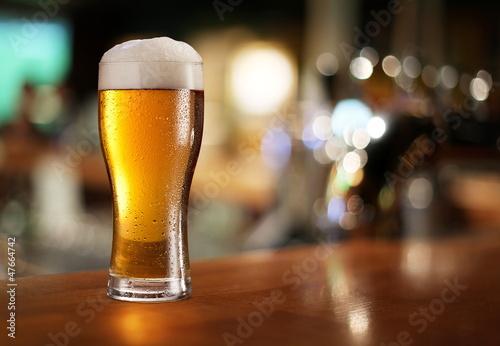 Fotografia, Obraz Glass of light beer.