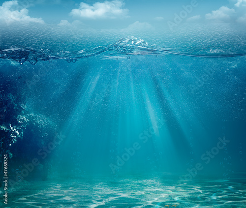 Fotografia, Obraz Abstract sea and ocean backgrounds for your design