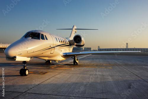 Fotografie, Obraz Beautiful shape of a private jet