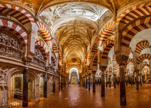 Canvas Print Mosque-Cathedral of Cordoba, Spain.