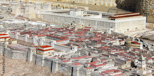 Tablou Canvas The palace of the High Priest Caiaphas and Herod .Jerusalem.