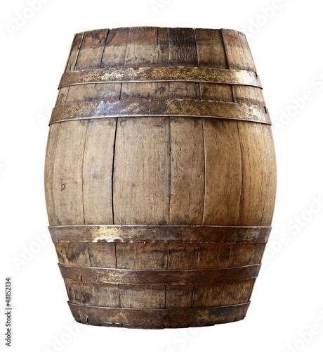 wood barrel Fototapet