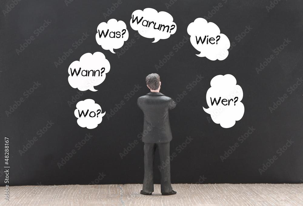 Wer Was wie Warum Wann Wo - obrazy, fototapety, plakaty