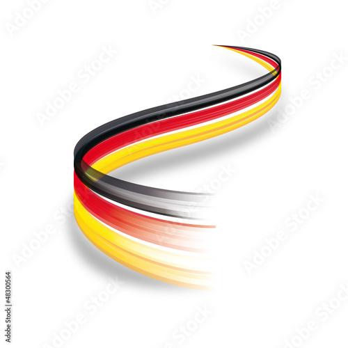 Wallpaper Mural Abstrakte Deutschland Flagge