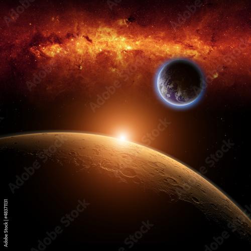 Mars, Earth