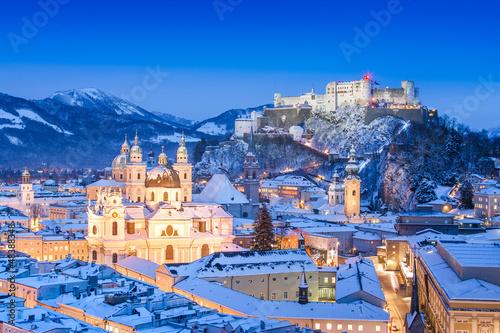 Fototapeta premium Salzburg zimą