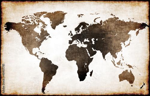 Obraz premium Mapa starego świata