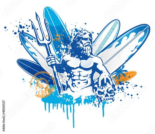 Fotografia poseidon surfer