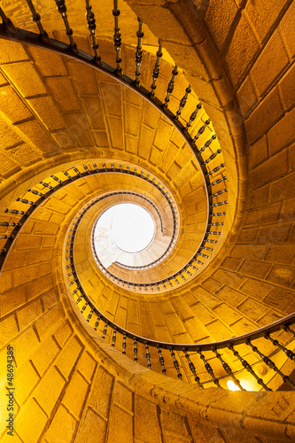 Fototapeta premium Schody klasztoru S. Domingo Bonaval. Santiago de Compostela