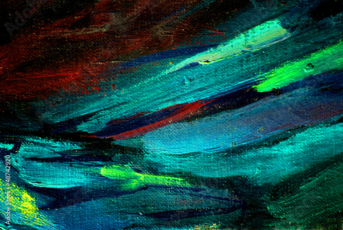 abstract chaotic painting by oil on canvas,  illustration, backg