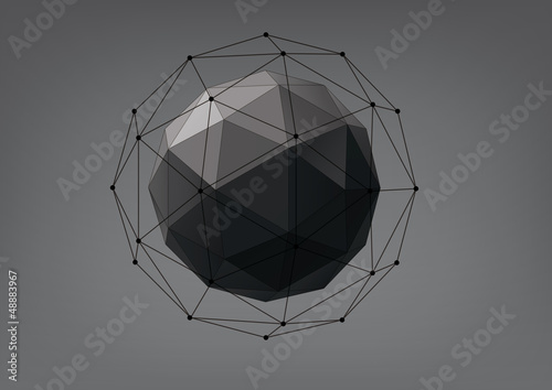 Abstract geometric shape from triangular faces