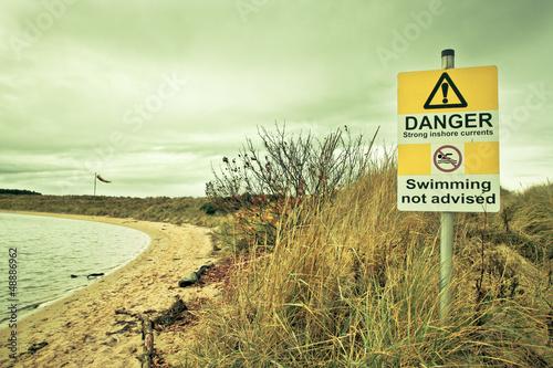 Warning sign Fototapet