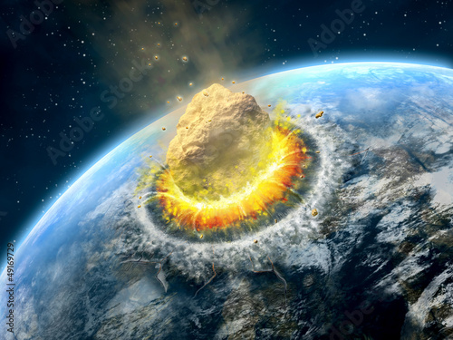 Fotografia Asteroid impact