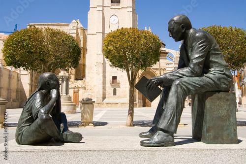 Monument to the teacher, Palencia, Castilla y Leon, Spain