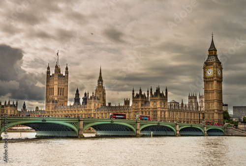 London. Wonderful view of Westminster bridge with Big Ben and Ho #49387159