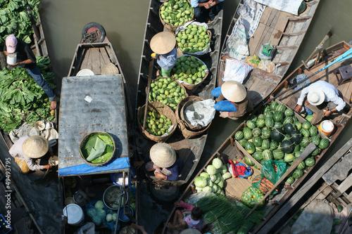 Carta da parati Floating fruit and vegetable market